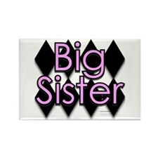 Big sister pink diamond Rectangle Magnet