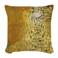 Adele by Klimt Woven Throw Pillow