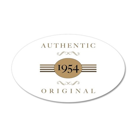 1954 Authentic Original 35x21 Oval Wall Decal