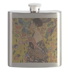 Klimt Lady with Fan Flask