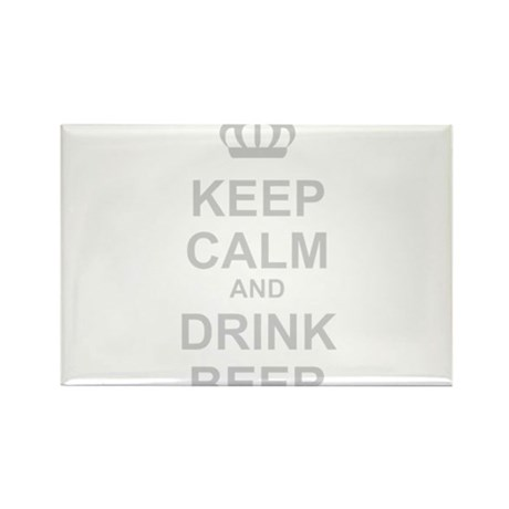 Keep Calm and Drink Beer Rectangle Magnet (10 pack