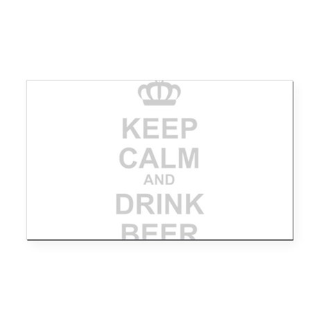 Keep Calm and Drink Beer Rectangle Car Magnet