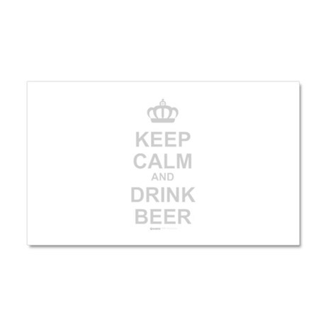 Keep Calm and Drink Beer Car Magnet 20 x 12