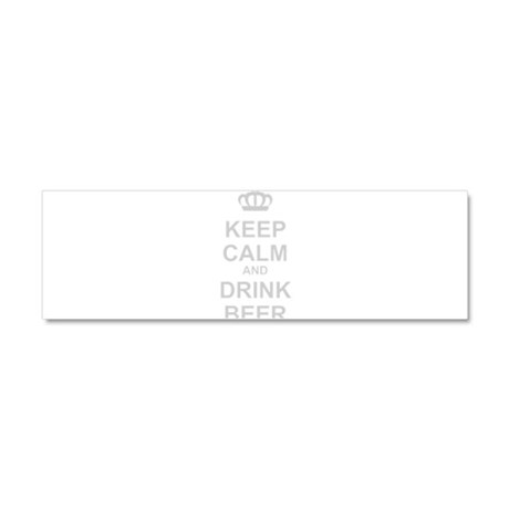 Keep Calm and Drink Beer Car Magnet 10 x 3