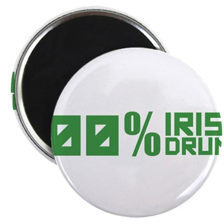 "100% Irish 100% Drunk 2.25"" Magnet (10 pack)"