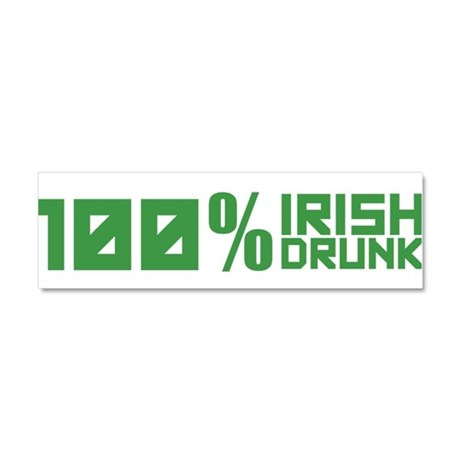 100% Irish 100% Drunk Car Magnet 10 x 3