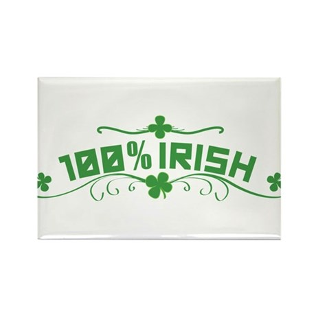 100% Irish Floral Rectangle Magnet (100 pack)