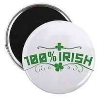"100% Irish Floral 2.25"" Magnet (100 pack)"