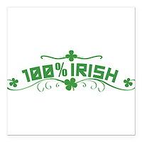 """100% Irish Floral Square Car Magnet 3"""" x 3"""""""
