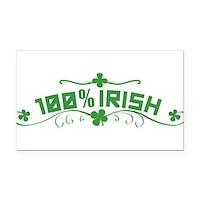 100% Irish Floral Rectangle Car Magnet