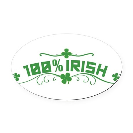 100% Irish Floral Oval Car Magnet