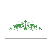100% Irish Floral Car Magnet 20 x 12