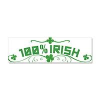 100% Irish Floral Car Magnet 10 x 3