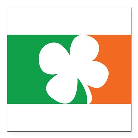"Pro Irish Square Car Magnet 3"" x 3"""