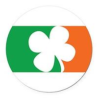 Pro Irish Round Car Magnet