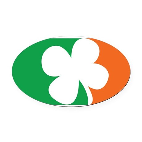 Pro Irish Oval Car Magnet