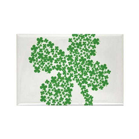 Clover Clovers Rectangle Magnet (100 pack)