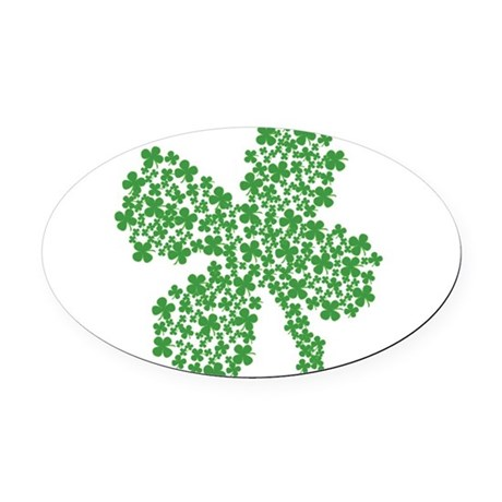 Clover Clovers Oval Car Magnet