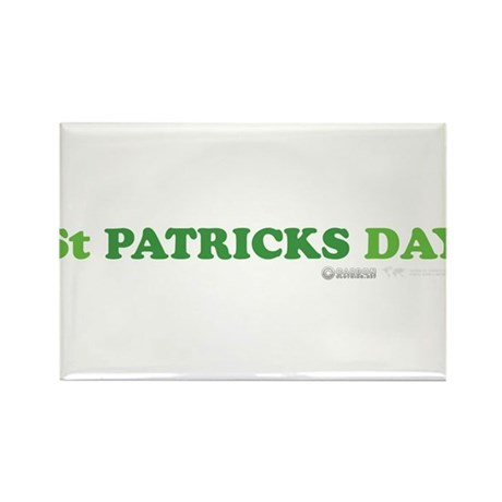 Green St Patrick's Day Rectangle Magnet (100 pack)