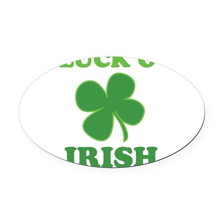 Luck O' Irish Clover Oval Car Magnet