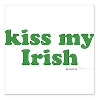 """Kiss My Irish Square Car Magnet 3"""" x 3"""""""