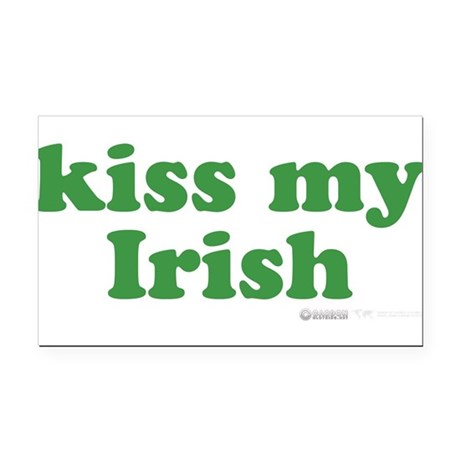 Kiss My Irish Rectangle Car Magnet