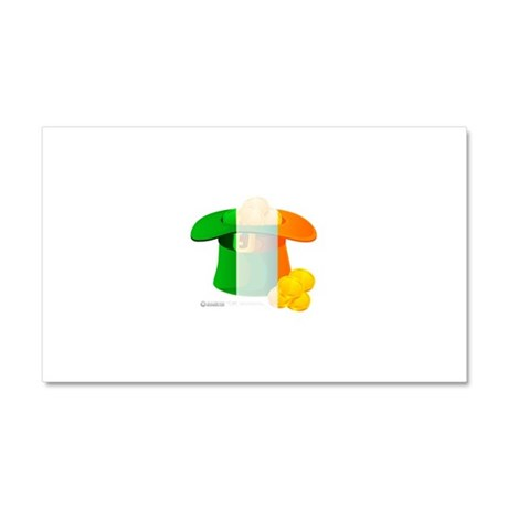 Irish Hat Flag Colors Car Magnet 20 x 12
