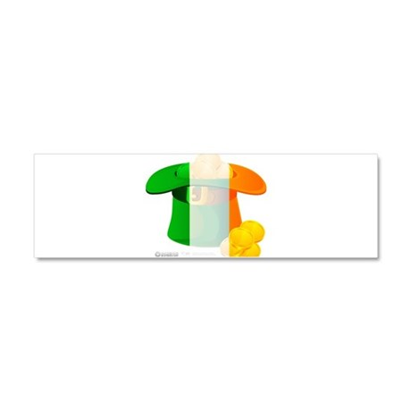 Irish Hat Flag Colors Car Magnet 10 x 3