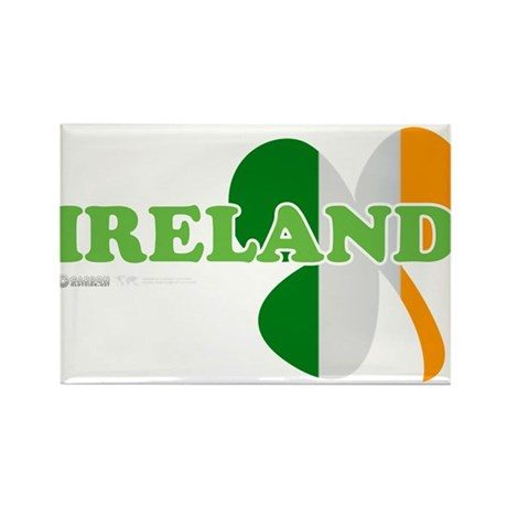 Ireland Clover Flag Rectangle Magnet (100 pack)