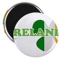 """Ireland Clover Flag 2.25"""" Magnet (100 pack)"""