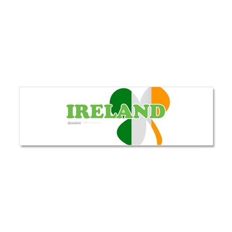 Ireland Clover Flag Car Magnet 10 x 3