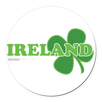 Ireland Lucky Clover Round Car Magnet