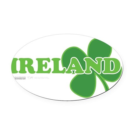 Ireland Lucky Clover Oval Car Magnet