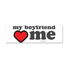 My Boyfriend Loves Me Car Magnet 10 x 3