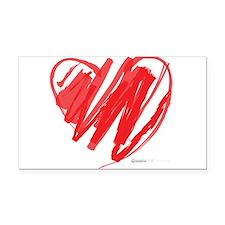Crayon Heart Rectangle Car Magnet