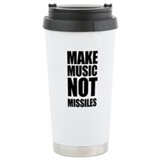 Make Music Not Missiles Travel Mug