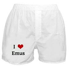 I Love Emus Boxer Shorts