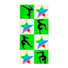 CHARMING GYMNAST Beach Towel