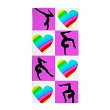 GYMNASTICS LOVE Beach Towel