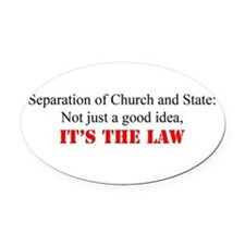 Funny Church Oval Car Magnet
