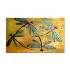 Dragonfly Haze Rectangle Car Magnet
