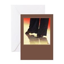 Foot Works Red2 Greeting Cards