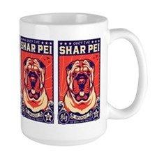 Obey the Shar Pei! Propaganda Mugs