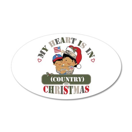 Christmas Soldier Mom 20x12 Oval Wall Decal