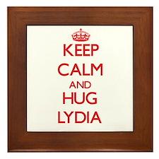 Keep Calm and Hug Lydia Framed Tile