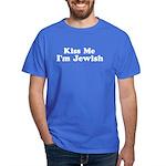 Kiss Me I'm Jewish Dark T-Shirt