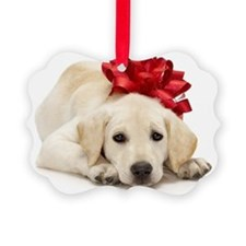 Yellow Lab Puppy Ornament
