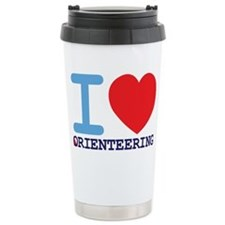 I Love Orienteering Travel Mug
