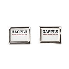 Castle Ruggedly Handsome White Cufflinks