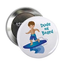 Future Surfer Boy (brunette) Button